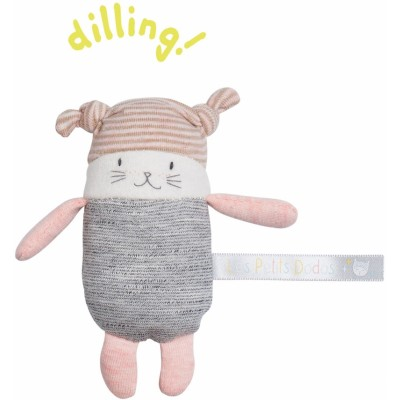 Moulin Roty Les Petits Dodos Tiny Pink Cat 11cm