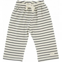 Nature Baby - Drawstring Pants - Merino Essentials - Navy Stripe