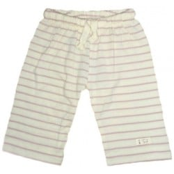 Nature Baby - Drawstring Pants - Merino Essentials - Rose Stripe (0-3mth)