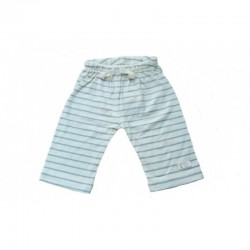 Nature Baby - Drawstring Pants - Merino Essentials - Sea Blue Stripe