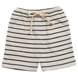 Nature Baby - Drawstring Shorts - Navy Stripe (6-12mth)