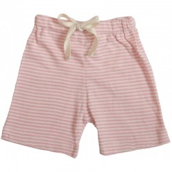 Nature Baby - Drawstring Shorts - Pink Stripe