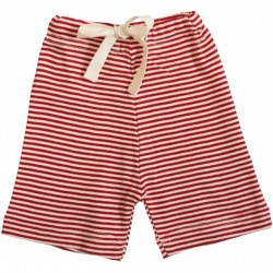 Nature Baby - Drawstring Shorts - Red Stripe