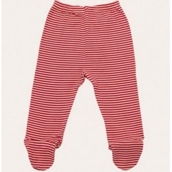 Nature Baby - Footed Rompers - Red Stripe (0-3mth)