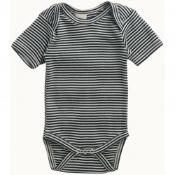 Nature Baby - Short Sleeve Bodysuit - Navy ..