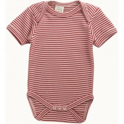 Nature Baby - Short Sleeve Bodysuit - Red S..