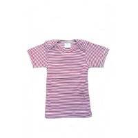 Nature Baby - Short Sleeve Bodytop - Red Stripe