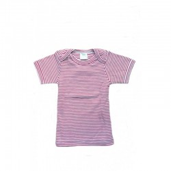 Nature Baby - Short Sleeve Bodytop - Red St..