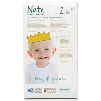Naty by Nature Babycare Size 2 (3-6 kg, 6-13 lbs.) 34 pcs