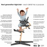 Nomi by Evomove Nomi Highchair + Mini Restraint - White Oak / Black