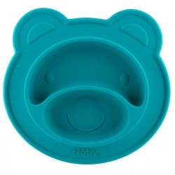 Nuby Bear Face Shaped Feeding Mat - LFGB Si..