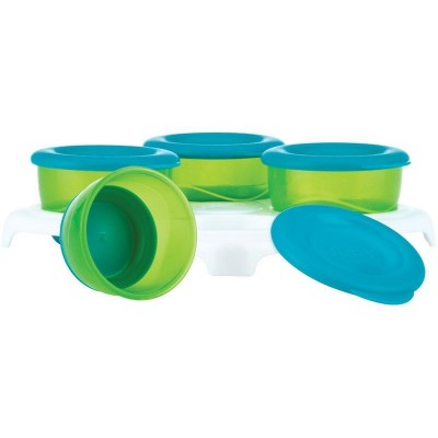 Nuby Garden Fresh Freezer Pots - Blue/Green