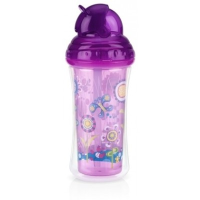 Nuby No-spill Insulated Clik-it Flip-it 270ml - Flower