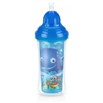 Nuby No-spill Insulated Clik-it Flip-it 270ml - Whale