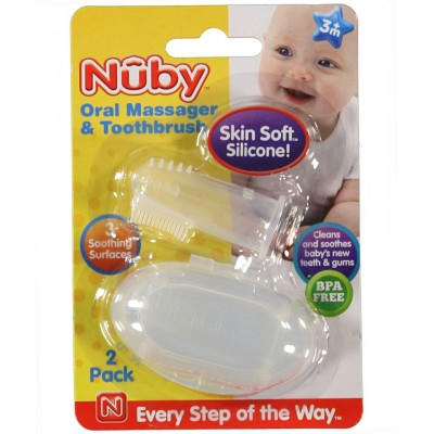 Nuby Oral Massager & Toothbrush