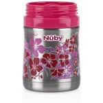 Nuby Printed Stainless Steel Food Jar - Geo Prints - Red