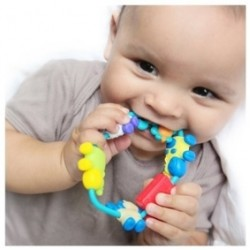 Nuby Soothe-a-Loop Teether - Boy - Animals