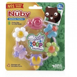 Nuby Soothe-a-Loop Teether - Girl - Bugs