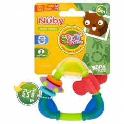 Nuby Triangle Teether with TPE - Boy
