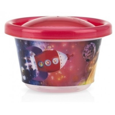 Nuby Wash or Toss Snack Cups with Lids (120ml x 6) - Boy Assortment