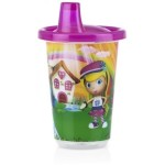 Nuby Wash or Toss Spout Cups with Lids (300ml x 3) - Girl