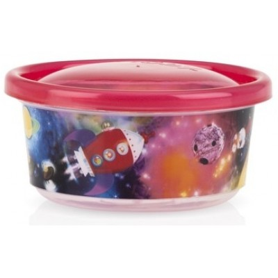 Nuby Wash or Toss Stackable Bowls with Lids (300ml x 6) - Boy