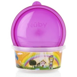 Nuby Wash or Toss Stackable Bowls with Lids..