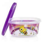 Nuby Wash or Toss Stackable Bowls with Lids (300ml x 6) - Girl