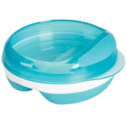 Oxo Tot Divided Feeding Dish - Aqua