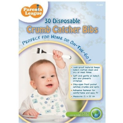 Parents League Disposable Crumb Catcher Bib 30s