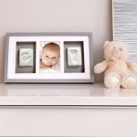 Pearhead Babyprints Deluxe Wall Frame - White
