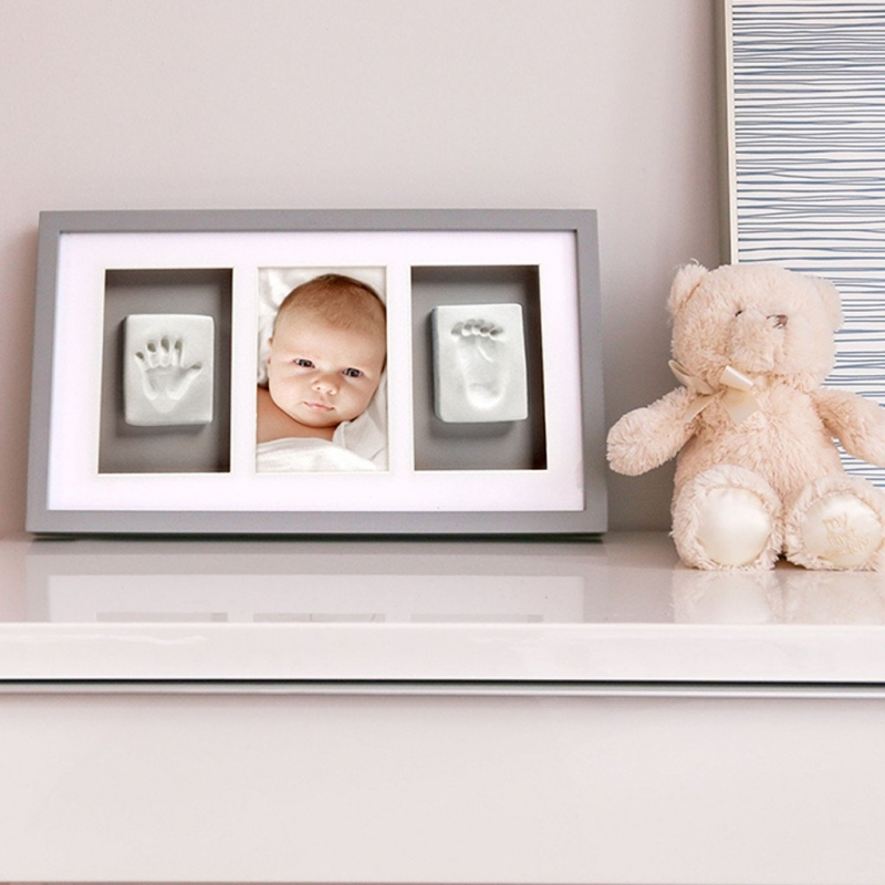 Pearhead Babyprints Deluxe Wall Frame White