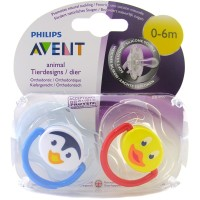 Phillips Avent Animal Soother 0-6months Blue