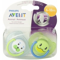 Phillips Avent Animal Soother 6-18months Blue/Green
