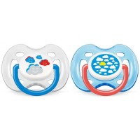 Phillips Avent Design Soother 0-6months Freeflow-Clouds