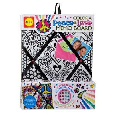 Alex Toys Color A Memo Board - Peace & Love