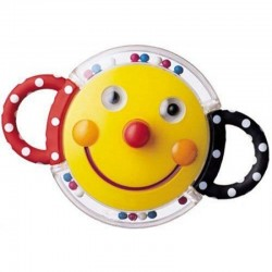 Sassy Baby Smiley Face Rattle Mirror