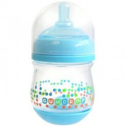 The First Years Gumdrop Wide Neck Anti-Colic Bottle 4oz Blue