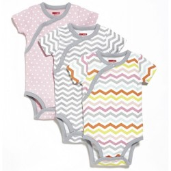Skip Hop 3pc Side Snap Bodysuit Short Sleev..