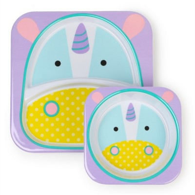 Skip Hop Zoo Tabletop Melamine Set - Unicorn