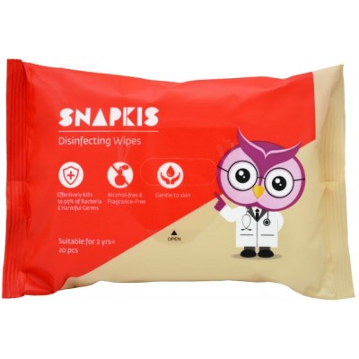 Snapkis Disinfecting Wipes 20pk