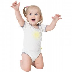 Snug-a-licious Short Sleeve Onesie - Sunshi..