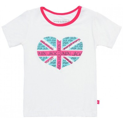 Snug-a-licious Short Sleeve Tee - Union Jack Heart