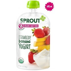 Sprout Organics Strawberry Banana Yogurt