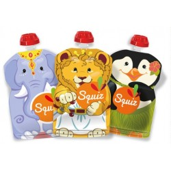 Squiz Carnaval Reusable Pouch - pack of 3