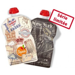 Squiz City Reusable Pouch - pack of 2
