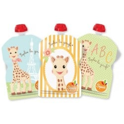 Squiz Sophie the Girafe Reusable Pouch - pa..