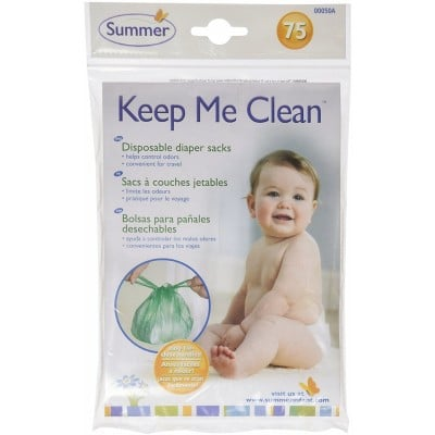 Summer Infant Keep Me Clean Disposable Diaper Sacks 75-Pack