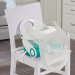 Summer Infant Sit 'n Style Fold Up Booster Seat (White & Teal)