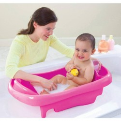 The First Years Deluxe Newborn-to-Toddler Tub with Sling - Pink